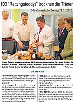 Mittelbayrische Zeitung - 100 Rettungsteddys trocknen die Tränen