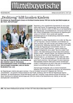 Mittelbayrische - Drahtzeug hilft kranken Kindern