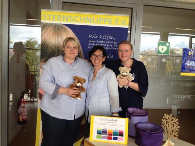 Wollfest Regensburg 2015 Helfer für Rettungsteddy