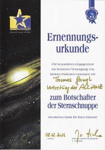 Allianz Gangl - Botschafter der Sternschnuppe